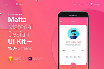 巨规范齐全的Material Design UI Kit打包下载[sketch,PSD]
