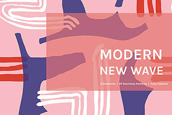 Modern New Wave | Patterns 现代图案背景纹理