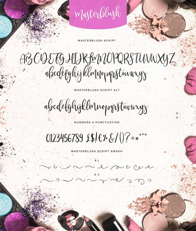 现代优美流畅书法风格英文手写字体 Masterblush Font设计素材模板