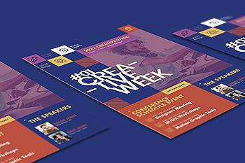 会议/讲座/论坛活动传单设计PSD模板 Conference Flyer PSD Template