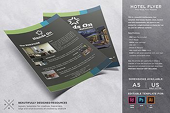 酒店/宾馆/民宿营销宣传单设计模板 Hotel Flyer Template