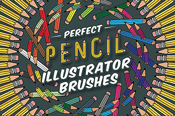 完美的粉笔插画笔刷 Perfect Pencil Illustrator Brushes