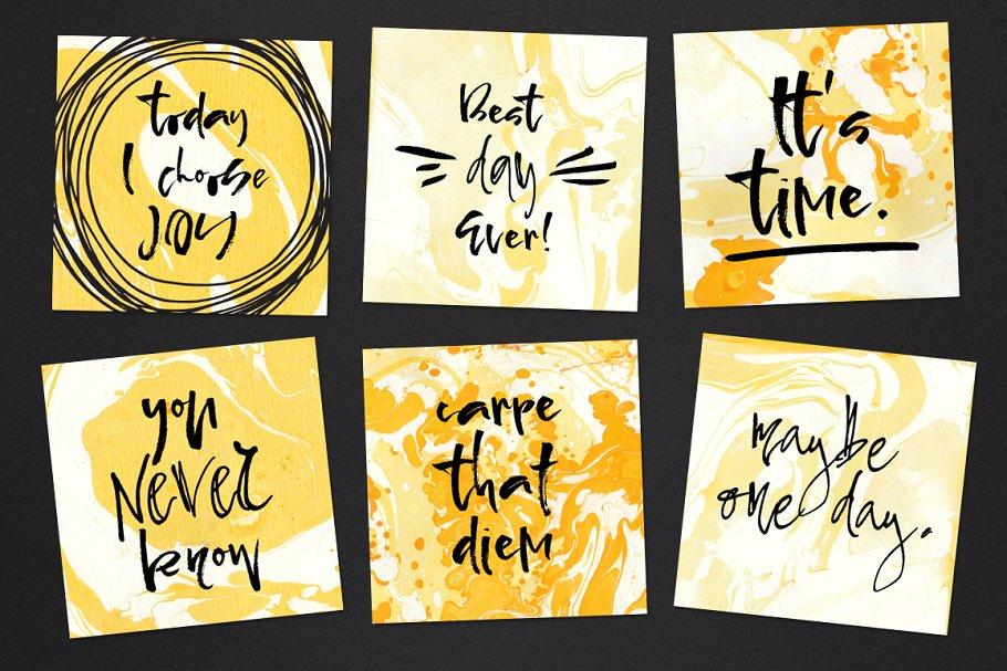 创意书法字体 Pepper & Lime – Font Duo设计素材模板
