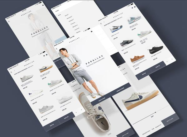 适用于高端男装服饰的电商APP界面UI kit打包下载[PSD]