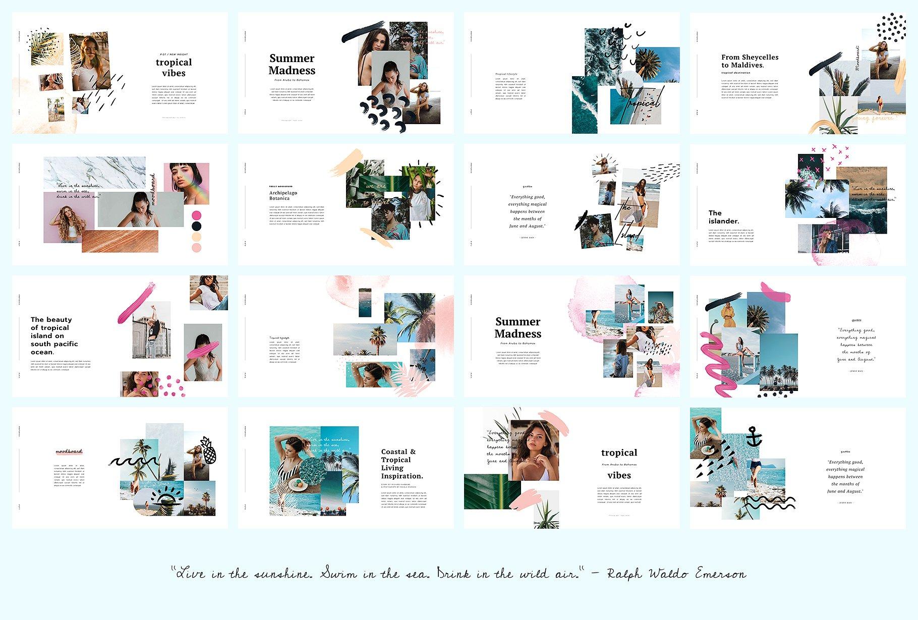 时尚PPT模板 PORTARICA – Powerpoint Template设计素材模板