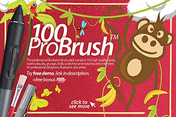 AI笔刷下载 ProBrush™ 100 + Free Demo
