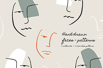 Hand Drawn Faces | Boards + Patterns 手绘人脸图案