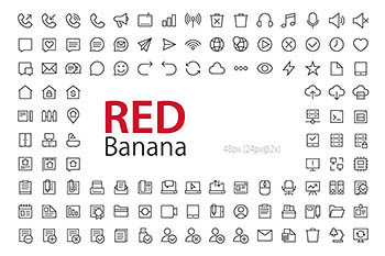 ui通用图标 3800+ RED Banana Icons