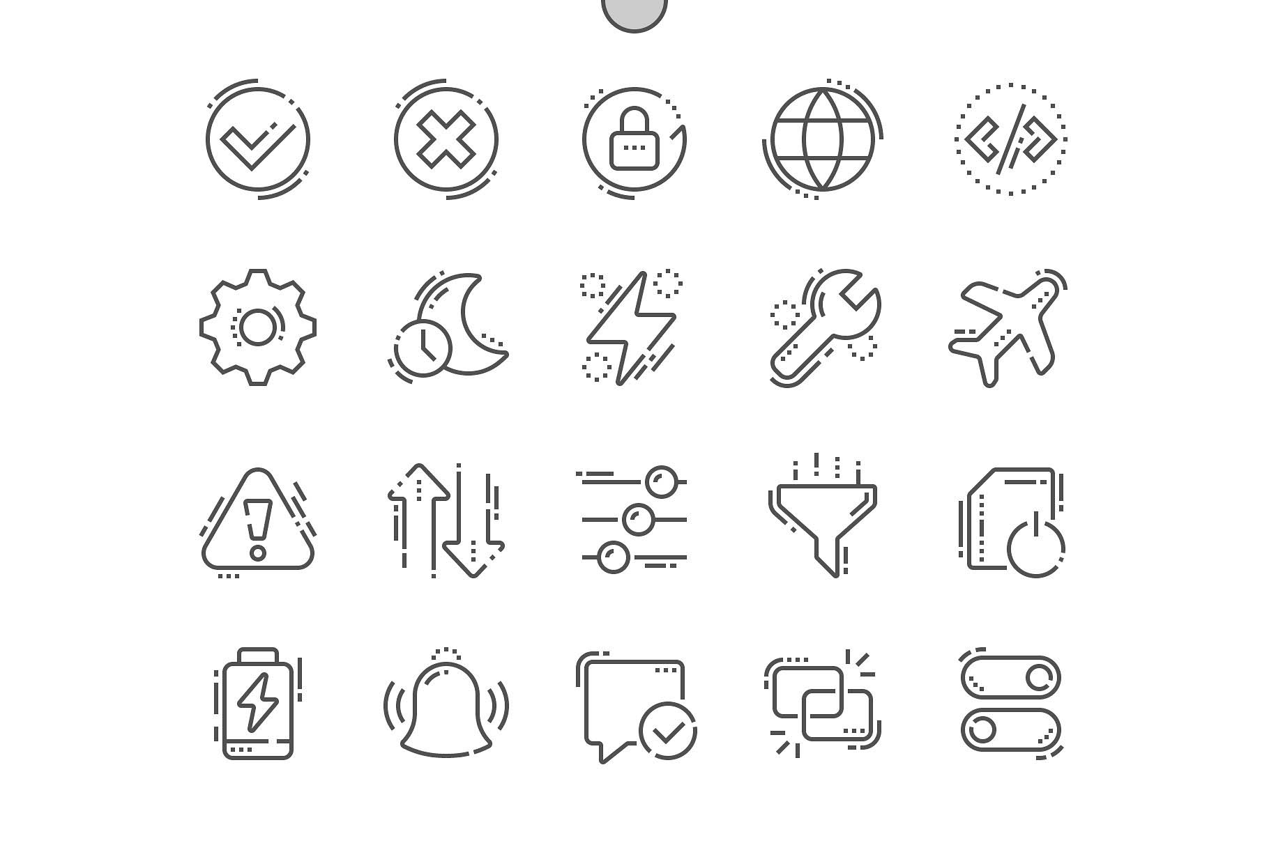 系统设置图标 Settings Line Icons