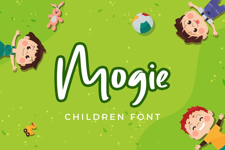 儿童主题设计英文手写字体 Mogie Cute and Amazing Display Font设计素材模板