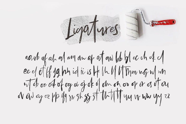 时尚高端简约中国风手绘毛笔字书法字体Bestlady Brush设计素材模板