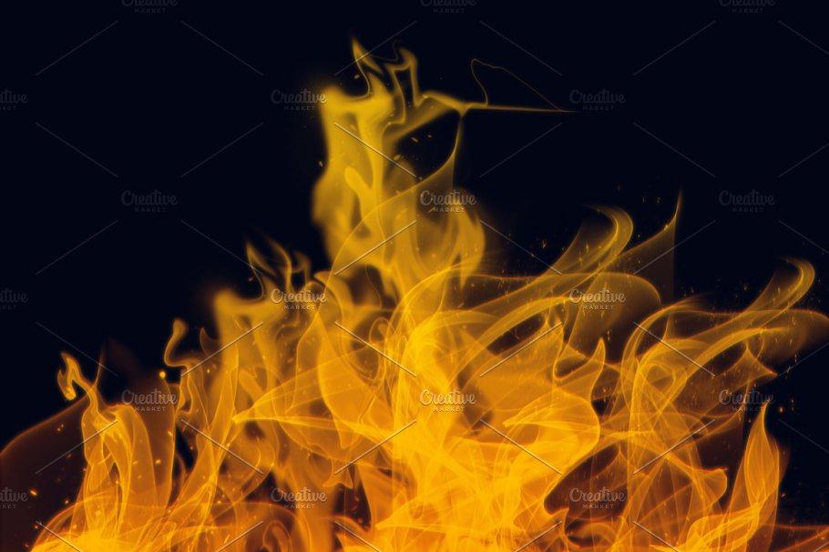 火焰&烟雾Photoshop水墨笔刷设计素材模板