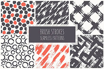 无缝笔刷集 Brush Strokes Seamless Set 1