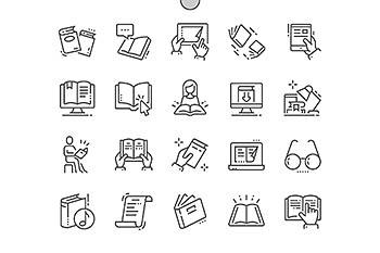 Reading Line Icons 阅读线型图标
