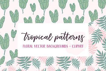 热带图案背景纹理 Tropical Patterns