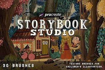 iPad专用Procreate童话故事主题笔刷下载