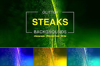 8K分辨率闪光抽象点状波纹曲线背景图素材 Glitter Steaks