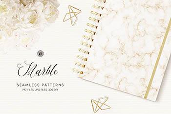 大理石无缝图案纹理 Seamless Marble Patterns