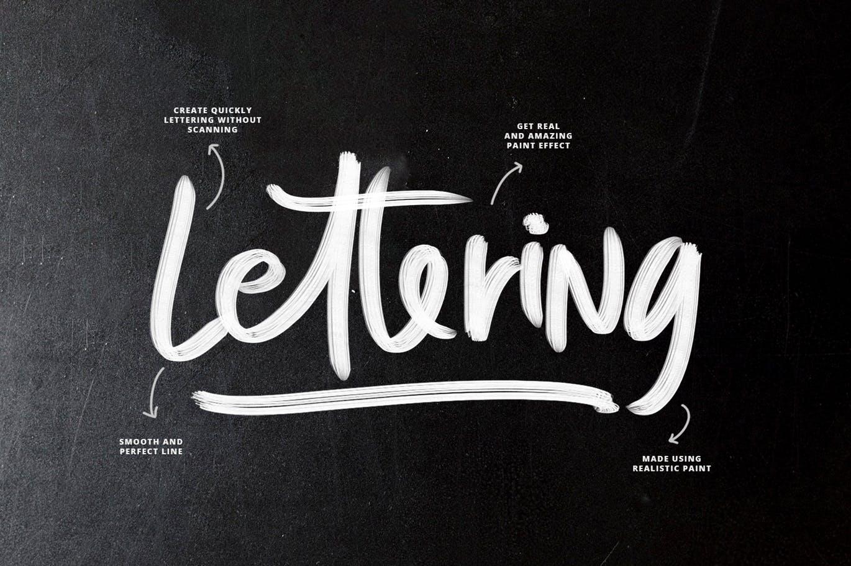 笔刷 | SVG油漆笔触手绘喷漆涂鸦刷子效果设计素材模板