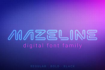 精选字体未来主义高科技氛围风格无衬线英文设计文字