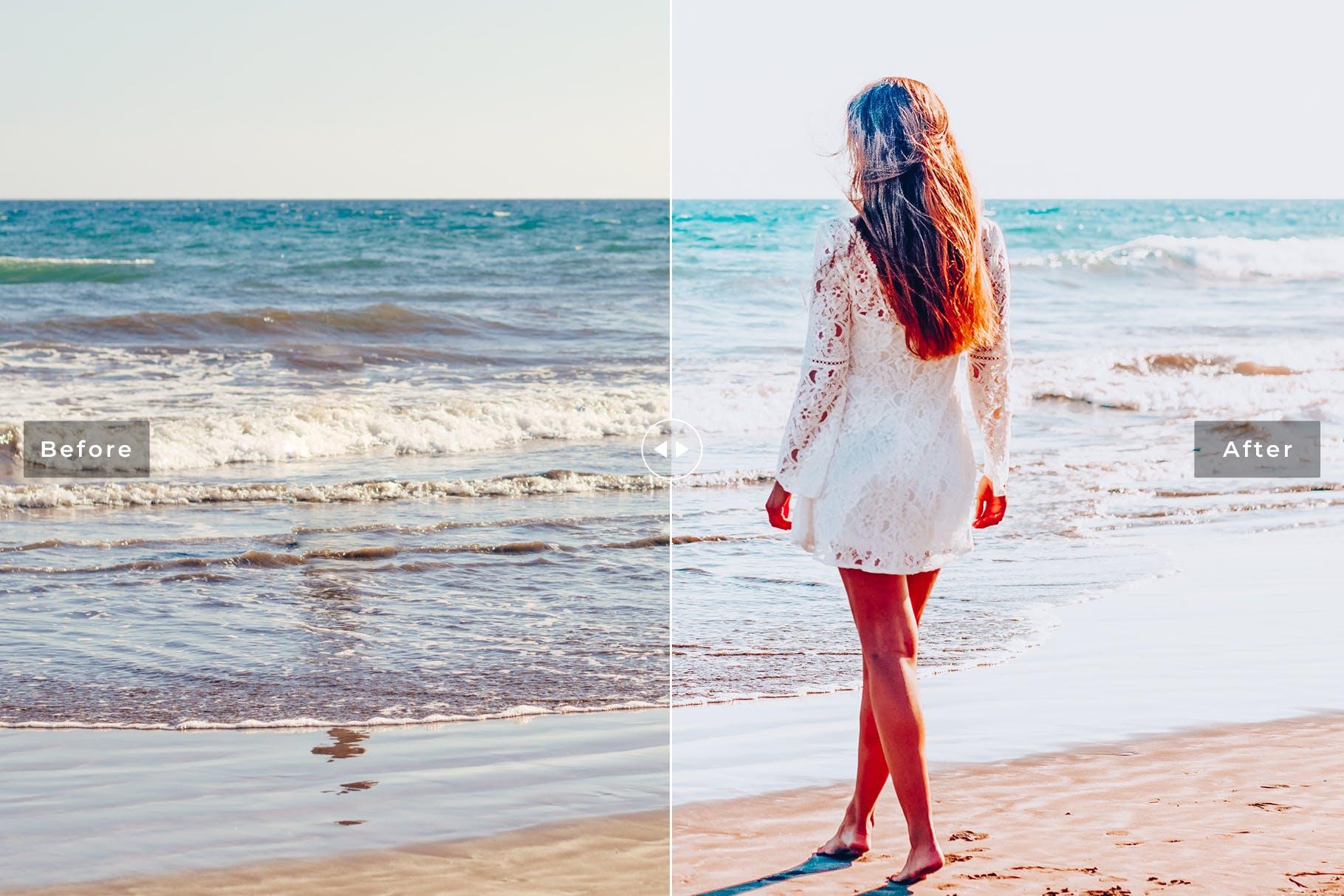 沙滩摄影后期调色工具-LR海滩摄影预设 Sea Salt Mobile & Desktop Lightroom Presets设计素材模板