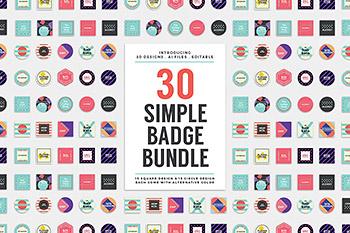 logo标志30个时尚高端简约多用途的高品质流行风格的徽标徽章设计模板捆绑