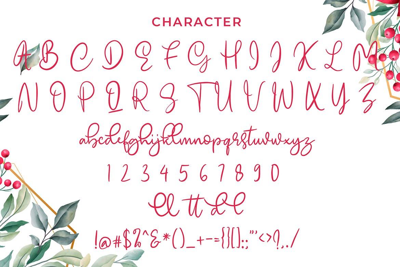 可爱风格英文现代书法字体 Emellyn Lovely Modern Calligraphy Font设计素材模板