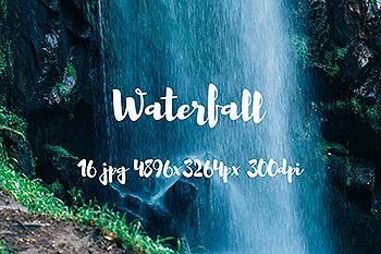 瀑布飞泻高清照片素材 Waterfall photo pack