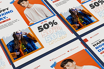 创意时尚品牌促销海报设计模板 Creative Fashion Sale Poster Illustrator Template