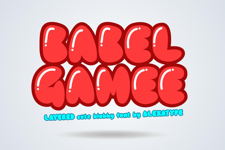 儿童主题设计绝配-可爱风格英文胖体无衬线字体 BABELGAMEE – Cute Chubby Children Font设计素材模板