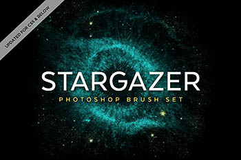 酷炫的PS笔刷 Stargazer Photoshop Brushes