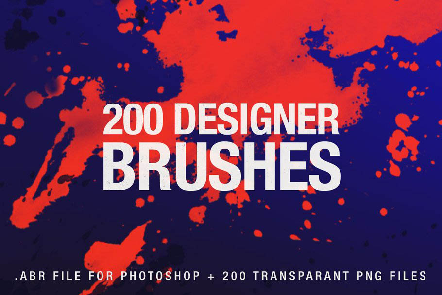 200个设计师PS笔刷 200 Designer Brushes for Photoshop