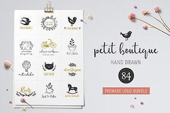 logo设计网站 Logo boutiqe – premade logo template