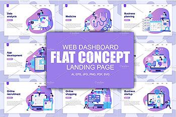 着陆页网站模板 Landing Page Templates