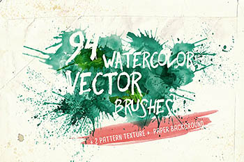 水彩矢量艺术笔刷 Watercolor Vector Art Brushes