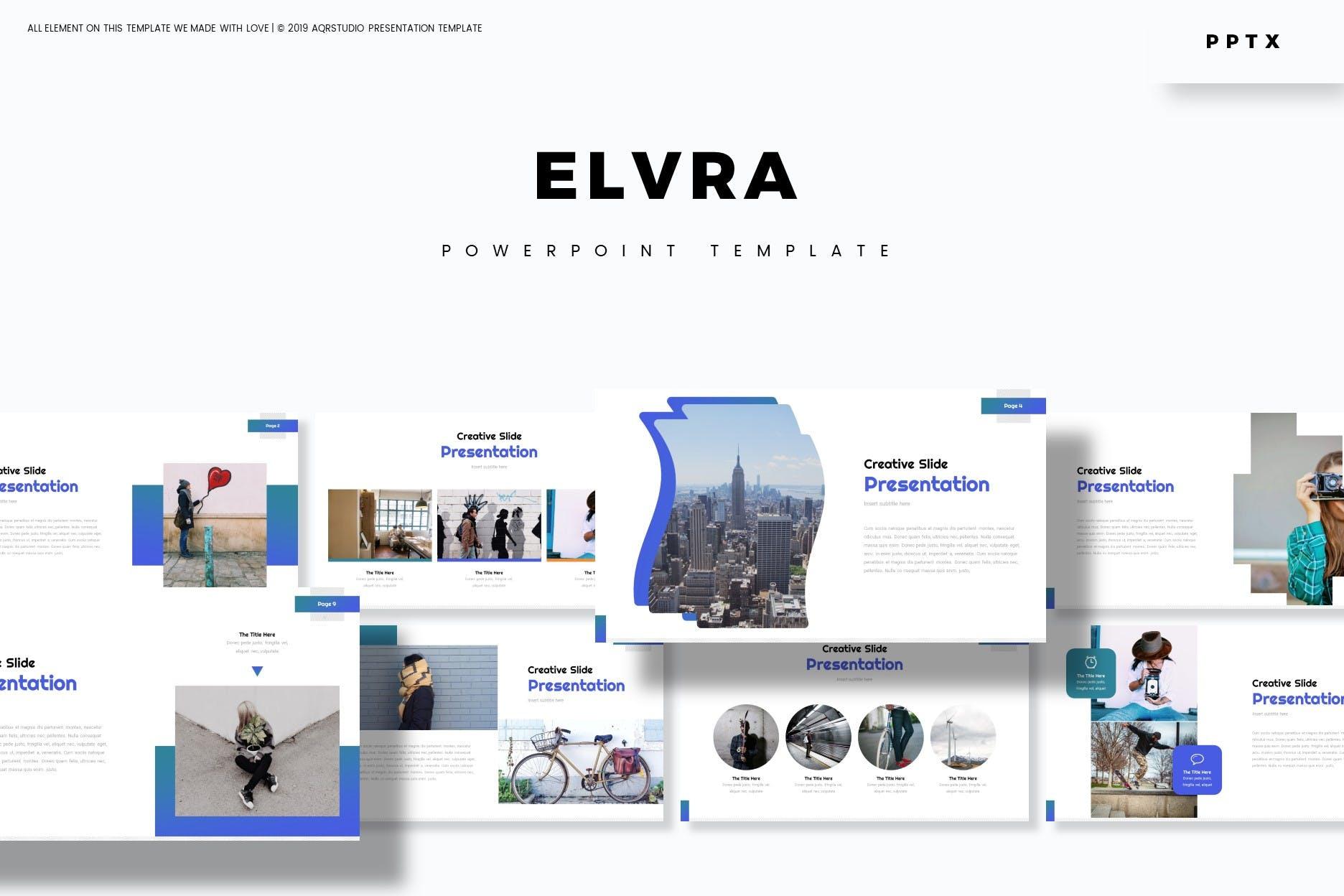 创意信息图表主题风格PPT幻灯片模板 Elvra – Powerpoint Template设计素材模板