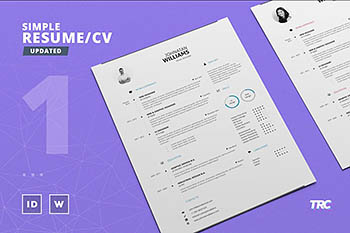 简约的简历模板 Simple Resume/Cv Template Volume 1