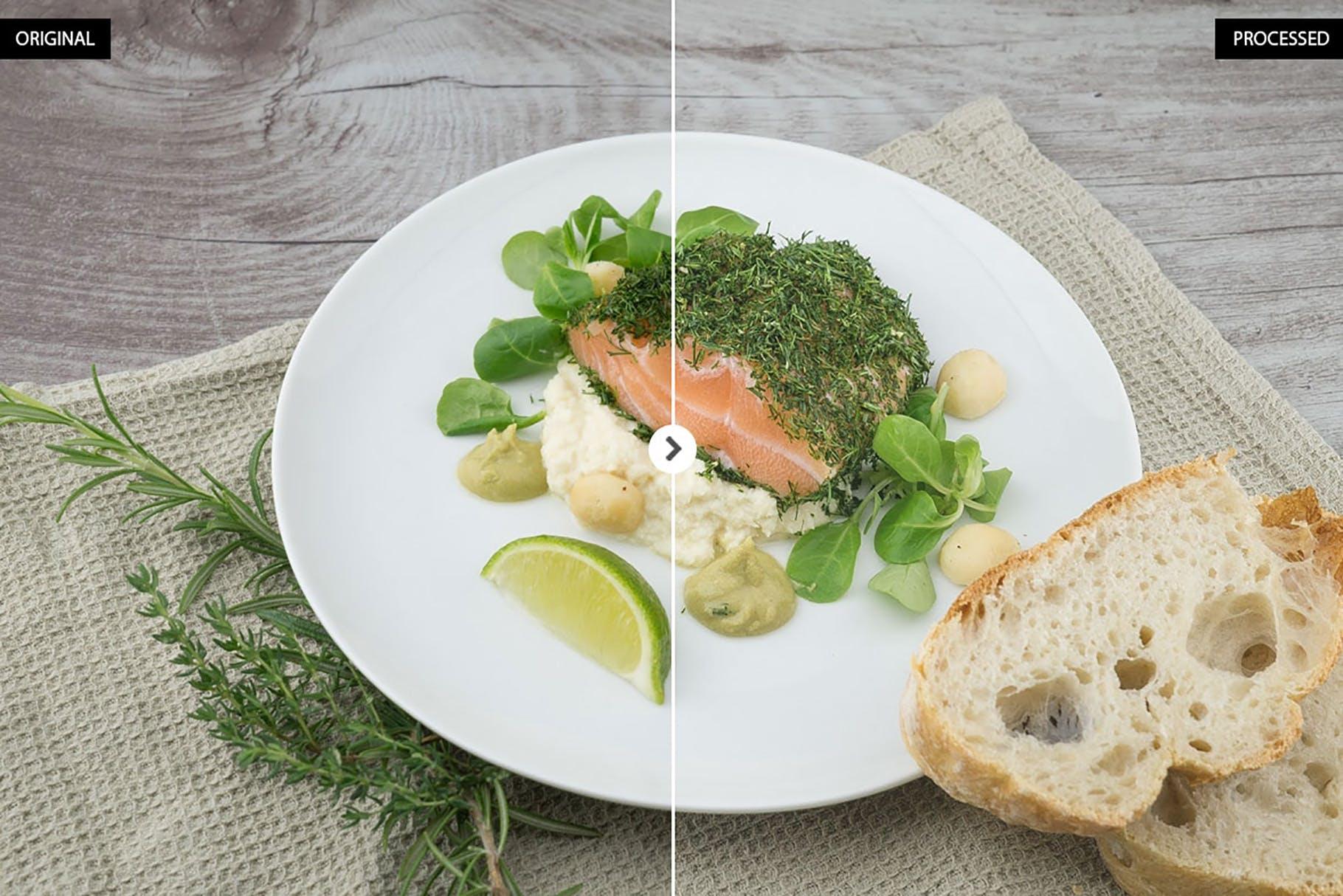 暖调美食景物照片lightroom预设lightroom预设下载设计素材模板