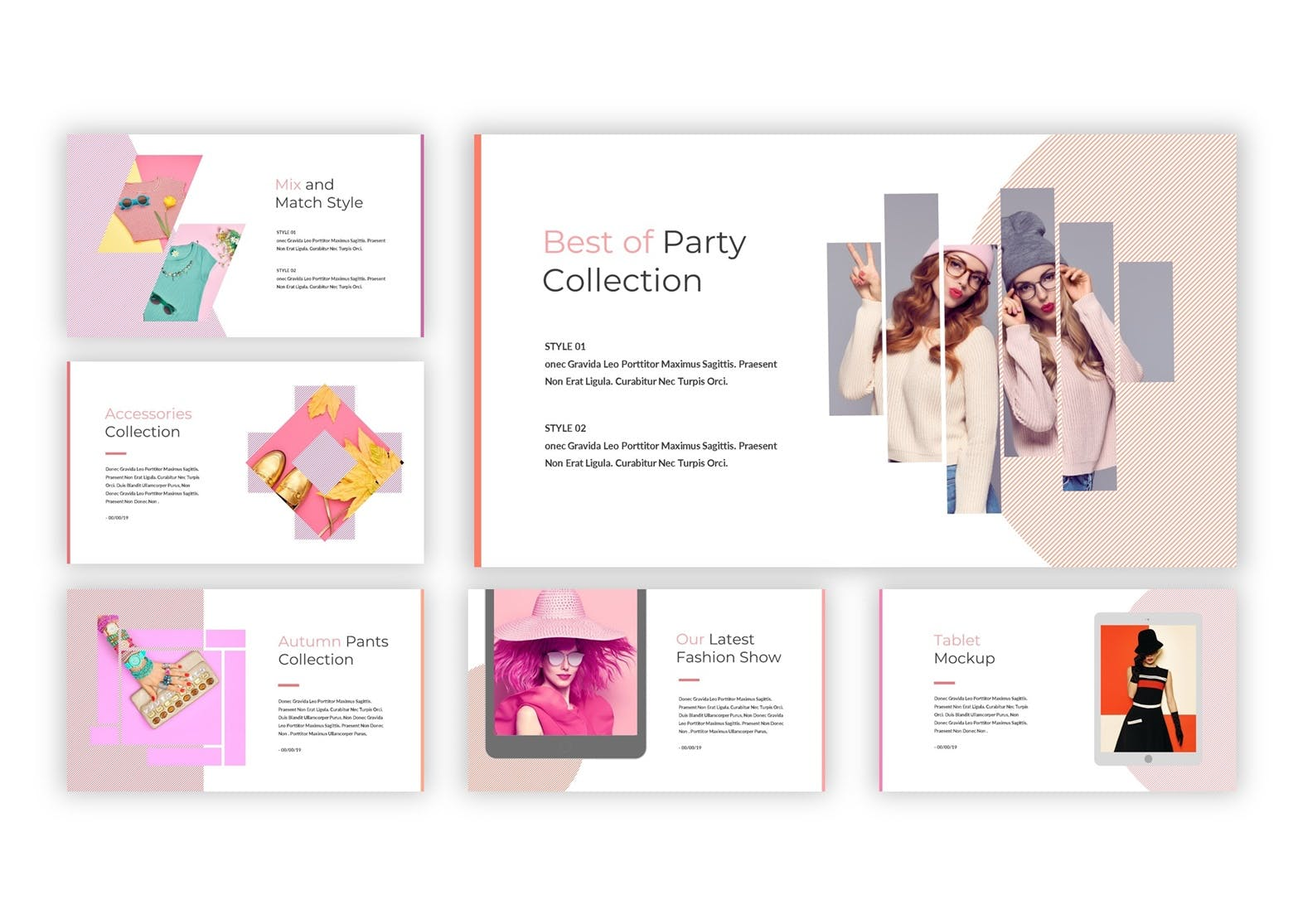 工作汇报ppt模板 粉色时尚女性产品PPT模板  ppt模板 下载设计素材模板