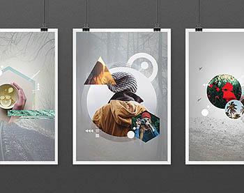 模板 | 7个PSD时尚风格几何元素