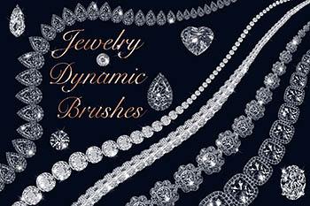 宝石动态画笔笔刷 Jewelry Dynamic Brushes
