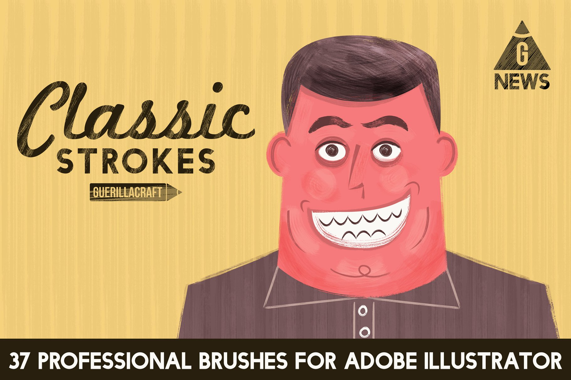 经典描边笔刷插画 Classic Strokes by Guerillacraft设计素材模板