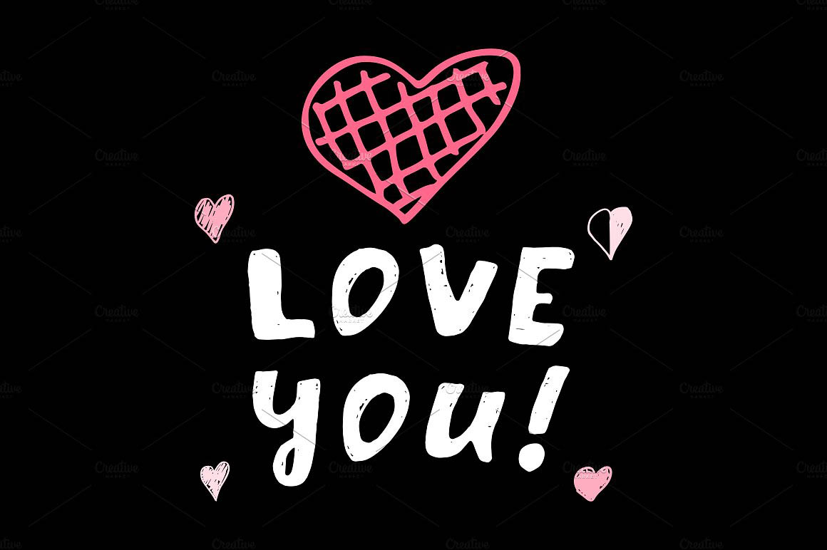 关于爱的图形素材 I love you6