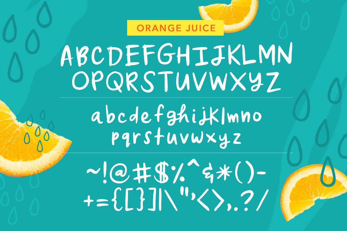 字体   充满活力俏皮有趣的可爱英文手写设计素材模板