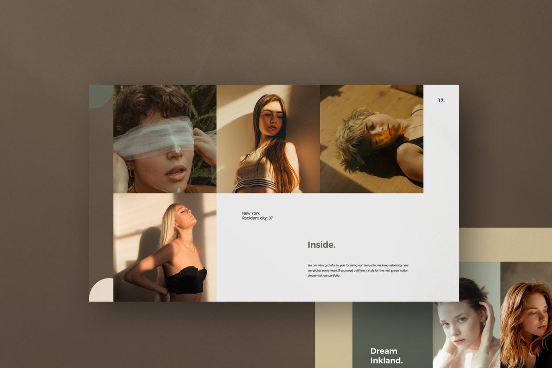 优雅时尚高端专业的高品质lookbook幻灯片演示模板(pptx)设计素材模板