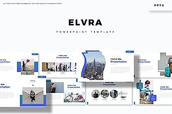 创意信息图表主题风格PPT幻灯片模板 Elvra – Powerpoint Template