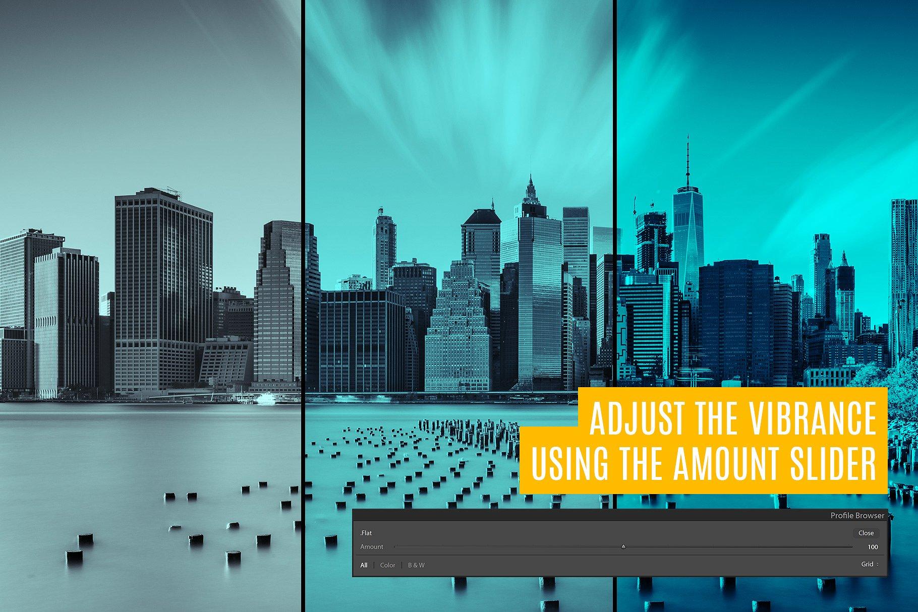 双色调照片滤镜ps动作 121 Duotone Lightroom Profiles设计素材模板