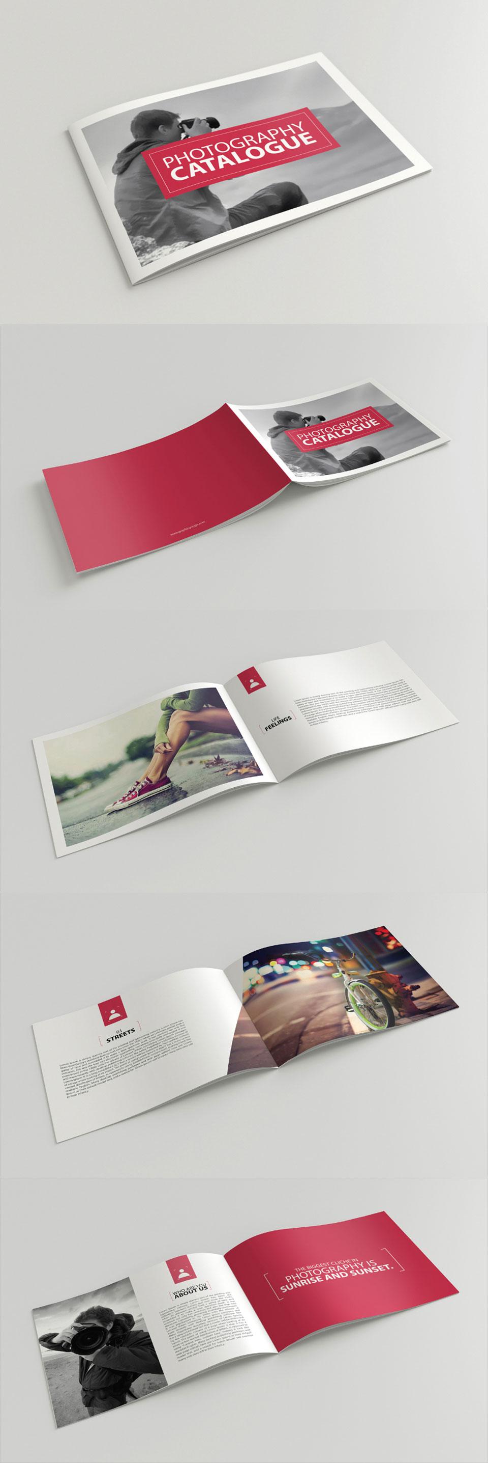 free:时尚的宽版画册排版设计模版下载[ai格式]设计素材模板