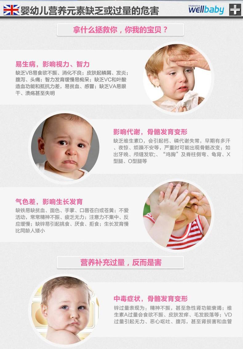 英国薇塔贝尔wellbaby0-4岁宝宝复合维生素婴儿多维营养液150ml*2 产品系列 第2张