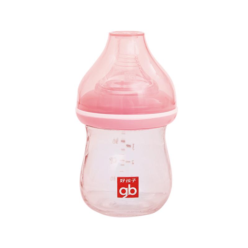 gb好孩子奶瓶新生婴儿ppsu耐摔宽口径防胀气大宝宝吸管玻璃奶瓶